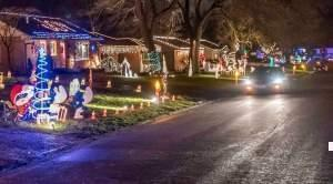 Homes in one east Urbana neighborhood celebrate the holidays along the route known as Candlestick Lane in 2015.
