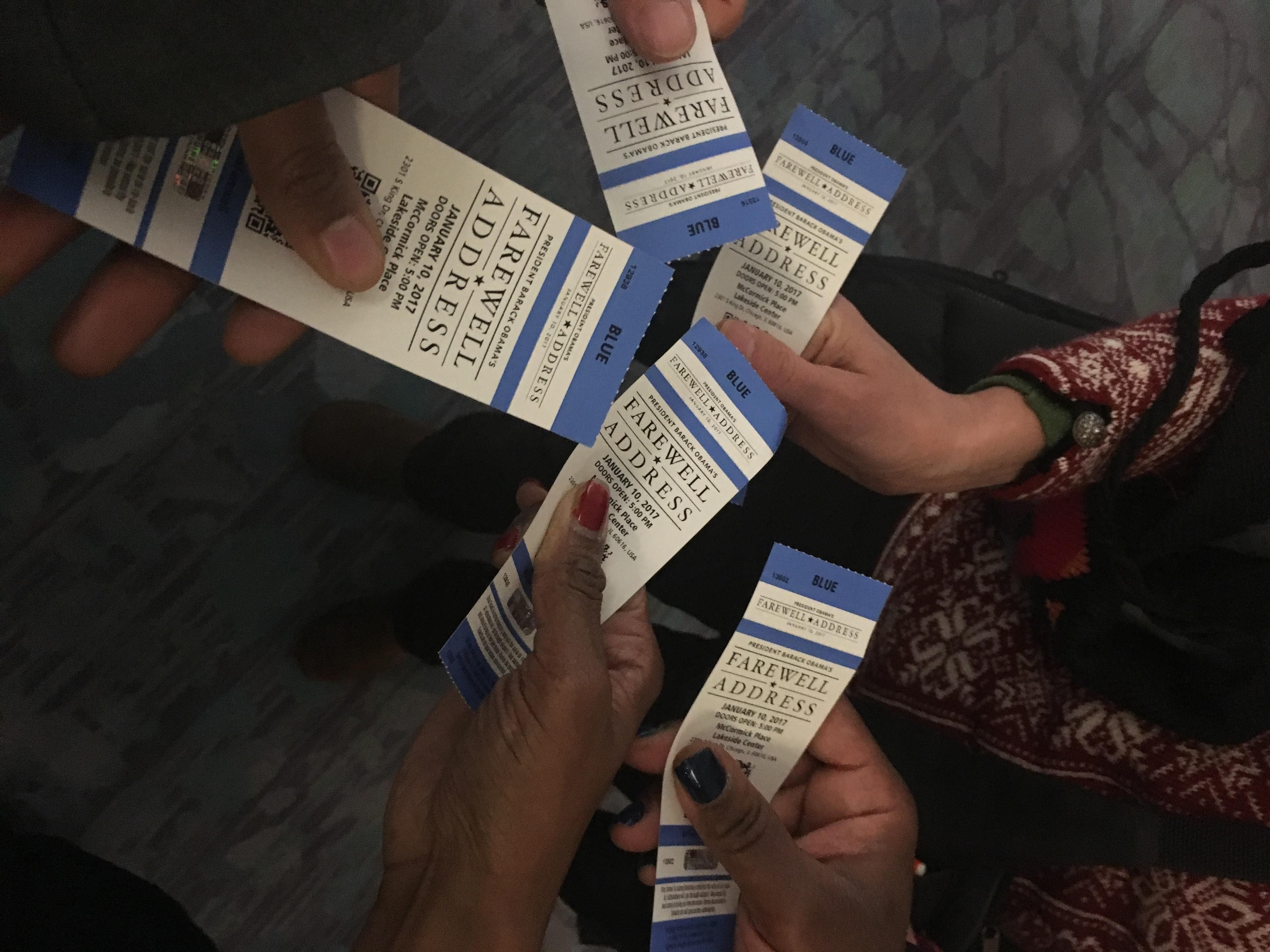 Obama farewell address tickets