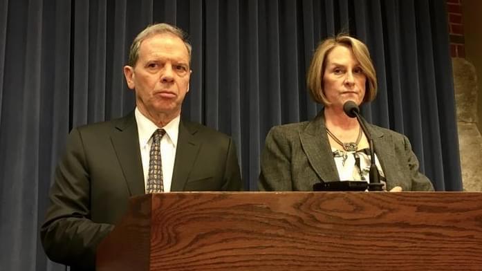 Senate President John Cullerton and Republican Leader Christine Radogno.