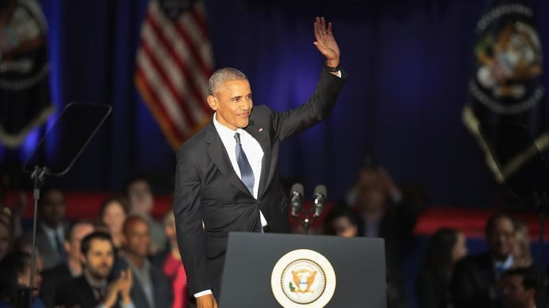 President Barack Obama delivered his farewell speech to the nation in Chicago, Illinois on Tuesday.