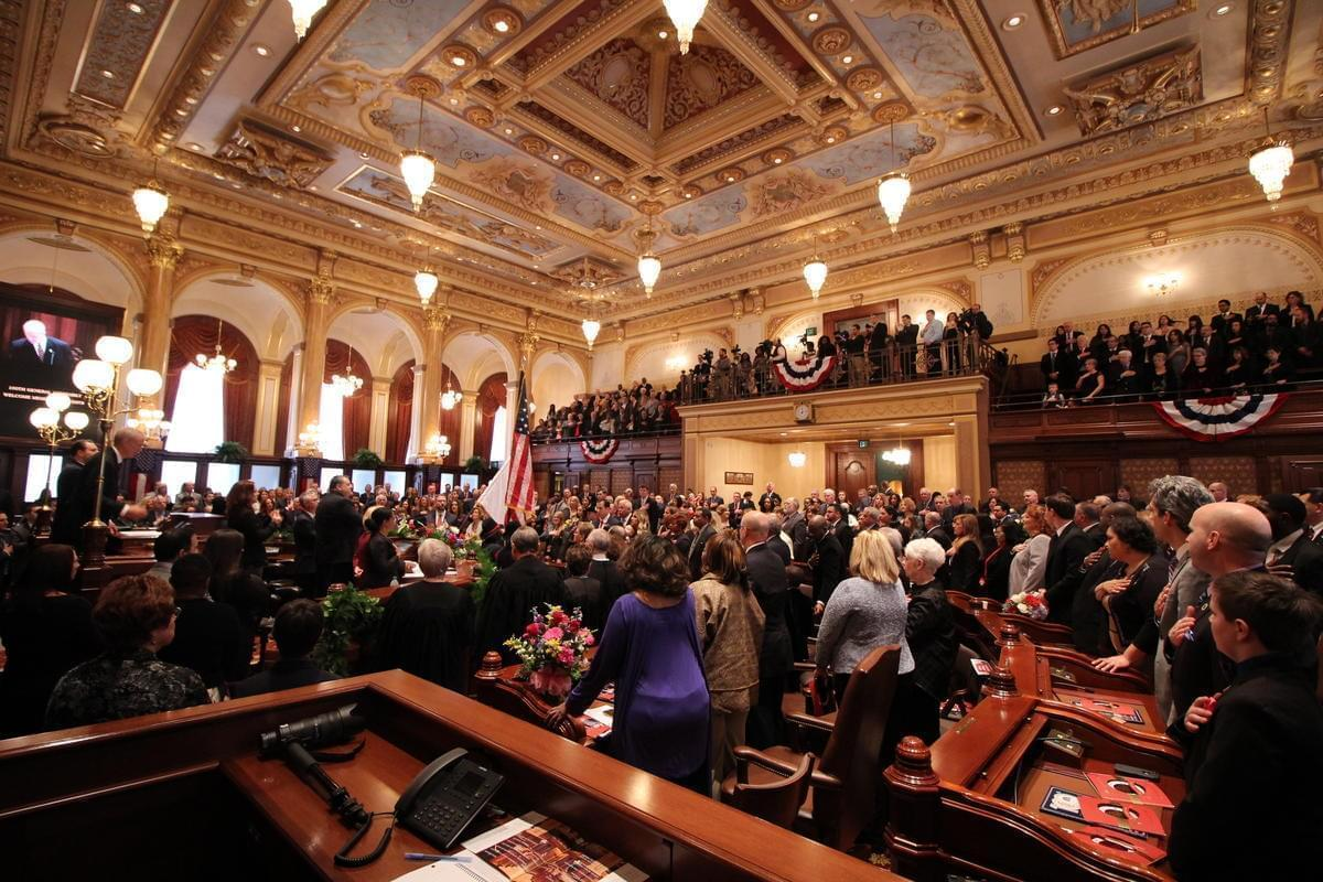 Members of the Illinois Senate were sworn in on Wednesday, Jan. 11, 2017. It was the opening of Illinois' 100th General Assembly.
