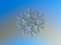 Macro photography of a natural snowflake.