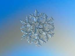 Macro photography of a natural snowflake.