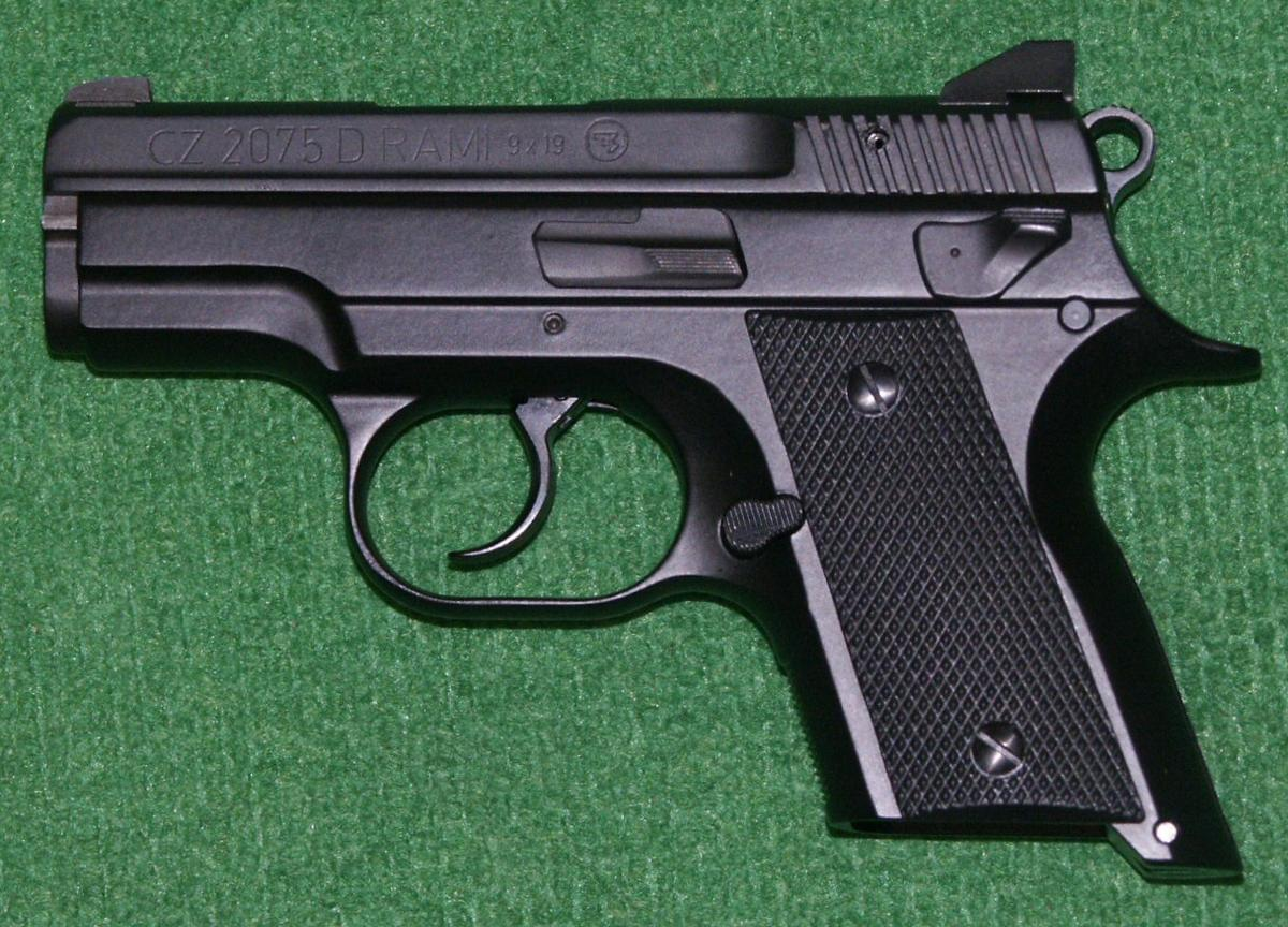 Stock photo of a handgun.