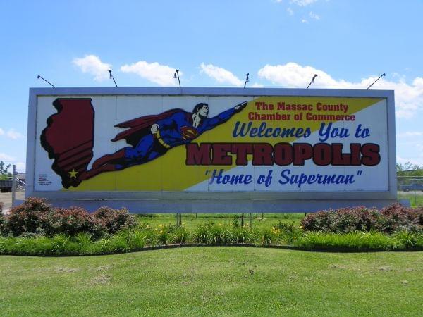 billboard in Metropolis, Illinois