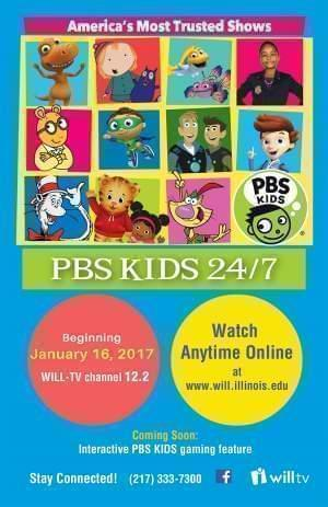 Postcard flyer with pictures of PBS KIDS characters