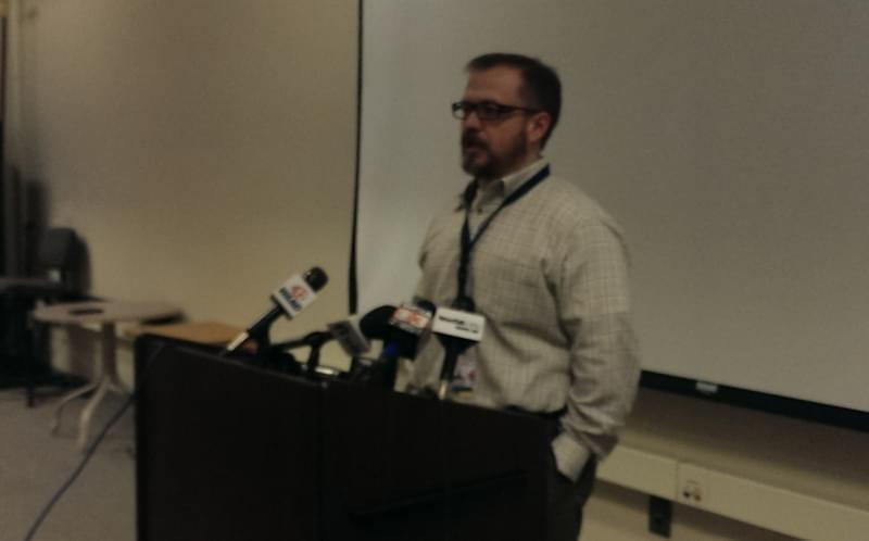 University of Illinois Willard Airport Executive Director Gene Cossey talks with reporters on Wednesday's helicopter crash.