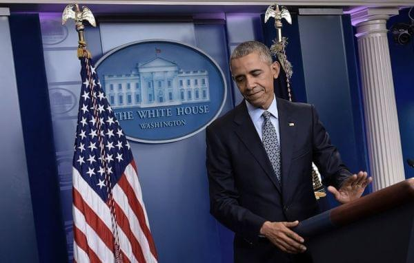 President Obama holds his final press conference at the White House on Wednesday.