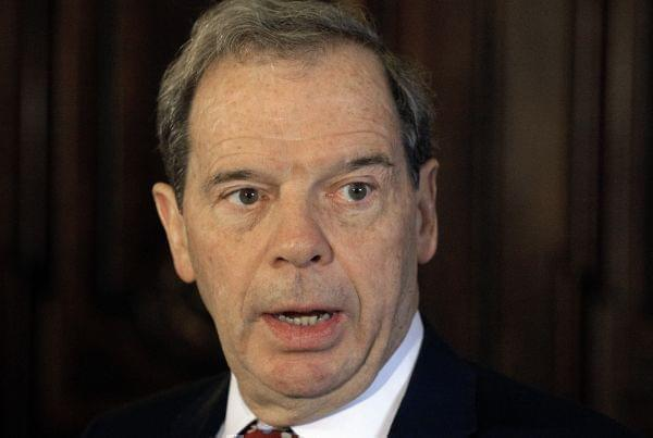 In this Thursday, Dec. 1, 2016 photo, Illinois Senate President John Cullerton, D-Chicago, speaks to reporters outside Illinois Gov. Bruce Rauner's office during veto session at the Illinois State Capitol in Springfield, Ill.