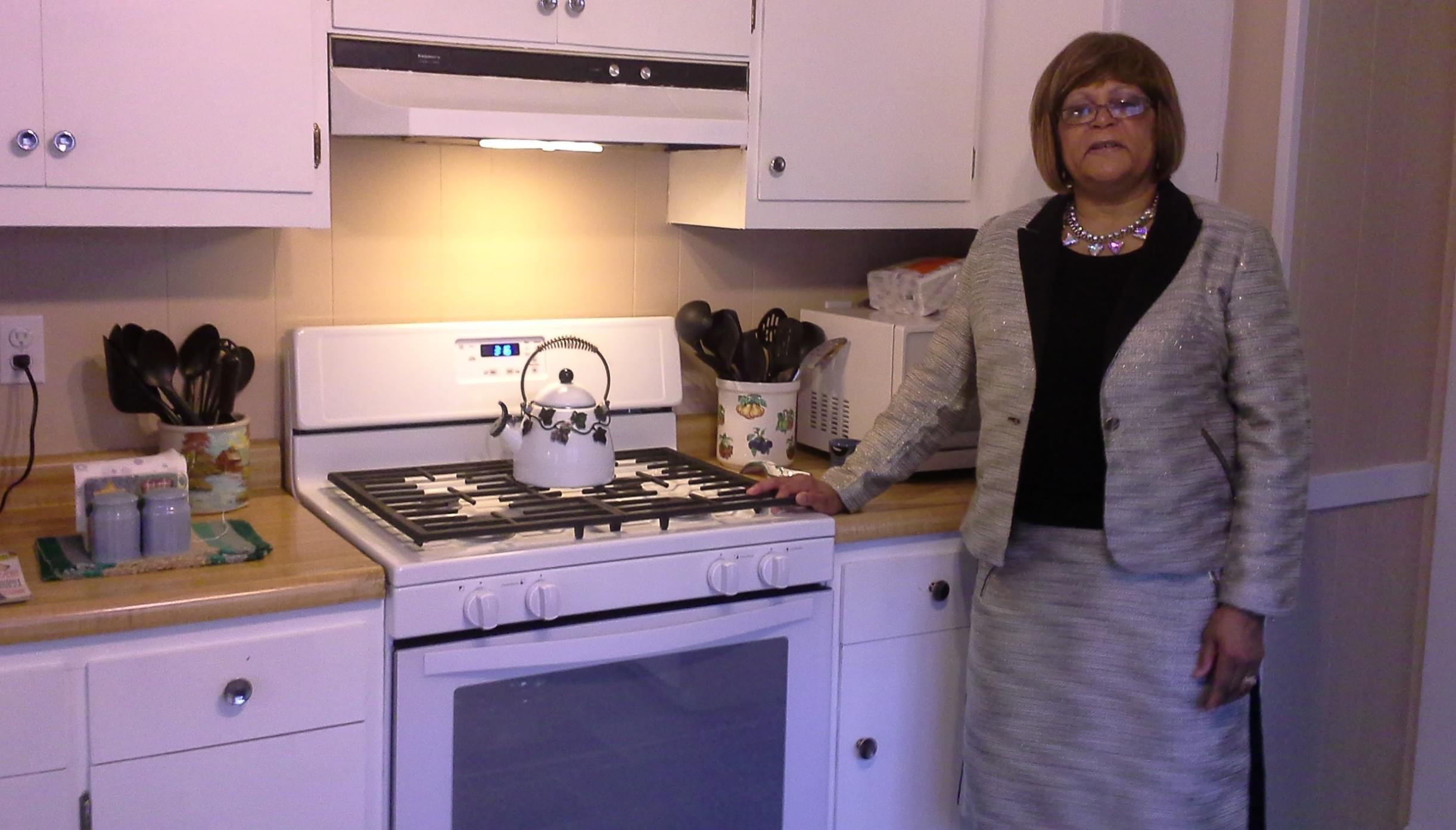 Director Wendy Coe in the kitchen of the Dayspring shelter for women and children in Danville.