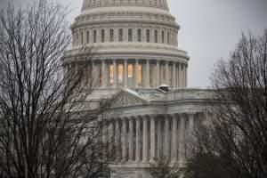 The Capitol is seen in overcast skies as the 115th Congress convenes in Washington, Tuesday, Jan. 3, 2017.