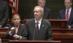 Gov. Bruce Rauner at the 2017 State of the State address.
