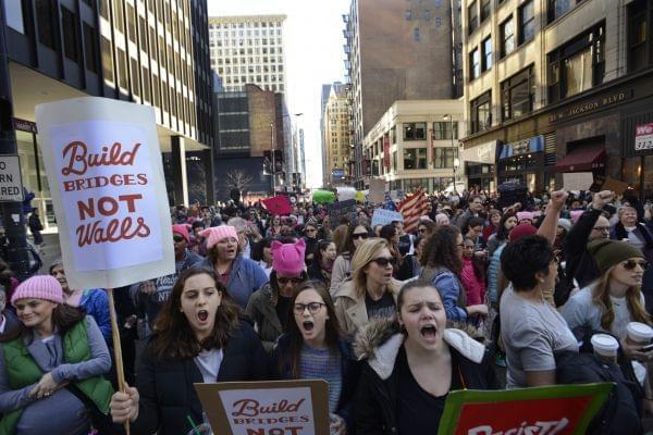 Women's march in Chicago