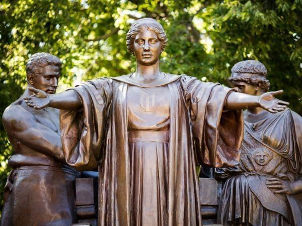 The Alma Mater statue on the University of Illinois campus