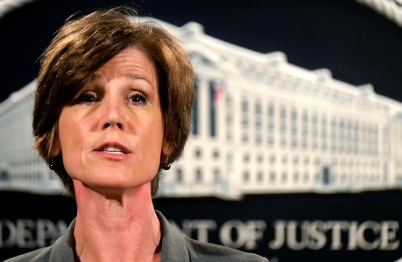 Former Deputy Attorney General Sally Yates