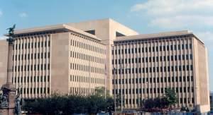 Caterpillar Inc. world headquarters building in downtown Peoria.