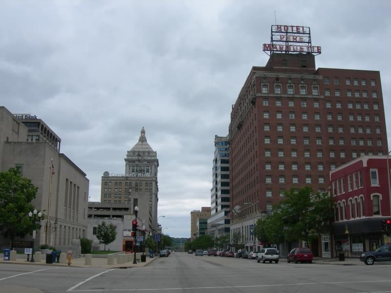 Downtown Peoria, Illinois.