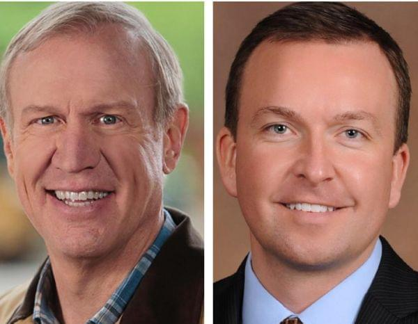 Gov. Bruce Rauner and Illinois Senator Andy Manar