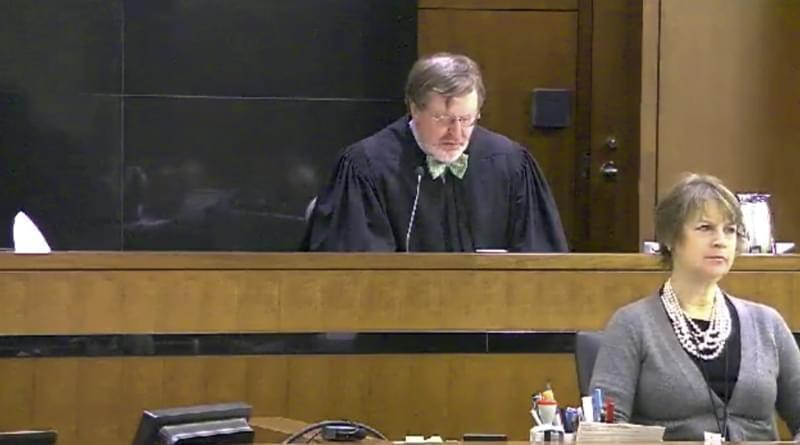 This still image taken from United States Courts shows Judge James Robart listening to a case at Seattle Courthouse on March 12, 2013 in Seattle. Robart placed a nationwide hold on President Donald Trump's executive order, banning travel to the