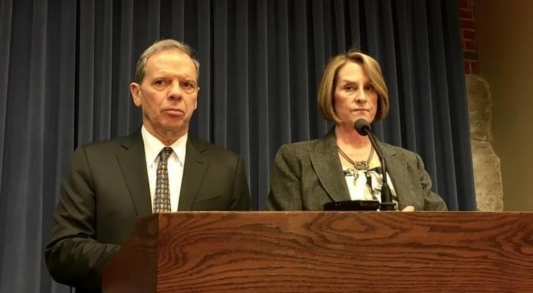 Senate President John Cullerton and Republican Leader Christine Radogno.