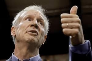 Illinois Gov. Bruce Rauner speaks to reporters last November in Springfield, Ill.