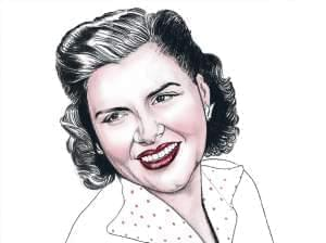 Illustration of Patsy Cline