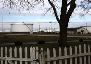 Brian Stover's front yard is directly across U.S. 51 from the Patoka Tank Farm.