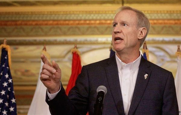 FILE - In this Sept. 26, 2016 file photo, Illinois Gov. Bruce Rauner speaks at the Illinois State Capitol, in Springfield, Ill. The governor gave his budget address Wednesday in Springfield.