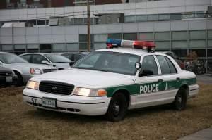A Champaign Police car