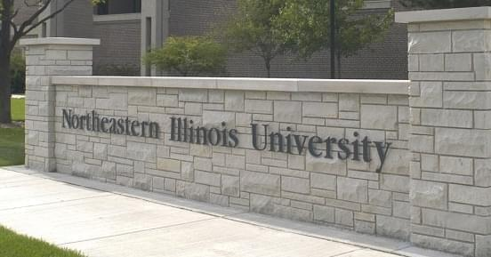 Gateway at the campus of Northeastern Illinois University in Chicago.