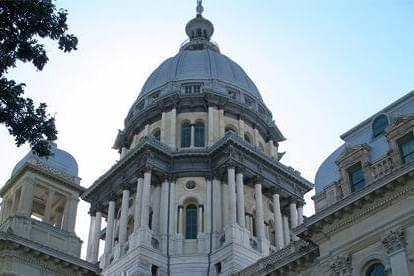 Dome of the Illinois Capitol Building in Springfield.