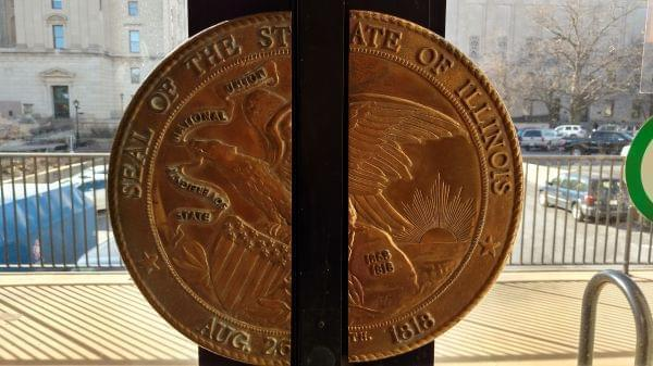doors of the statehouse in springfield