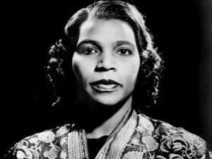Photo of Marian Anderson.