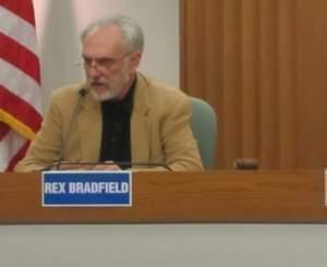 Republican Mayoral candidate Rex Bradfield, during a March 2013 debate at the Champaign City Building.