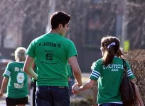Students during Unofficial St. Patrick's Day in 2009.