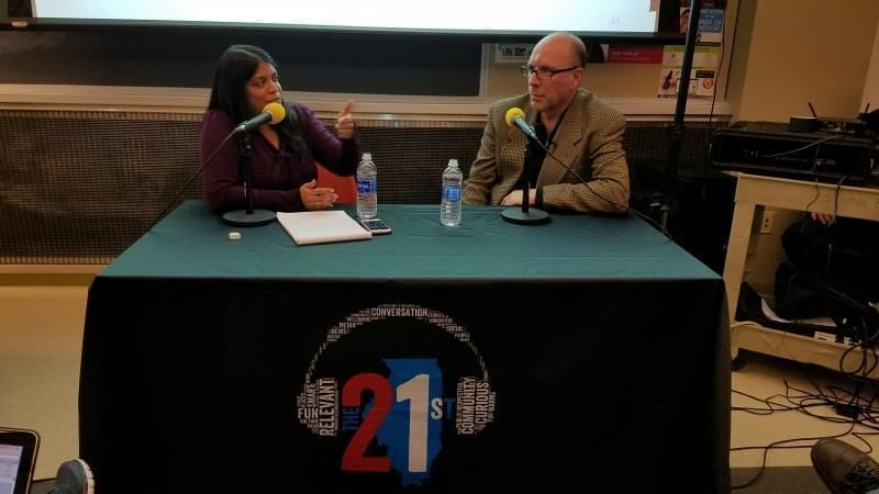 Niala Boodhoo speaking to Jay Rosen