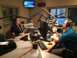 CNBC's Ted Kemp (left) talks with Brian Moline.