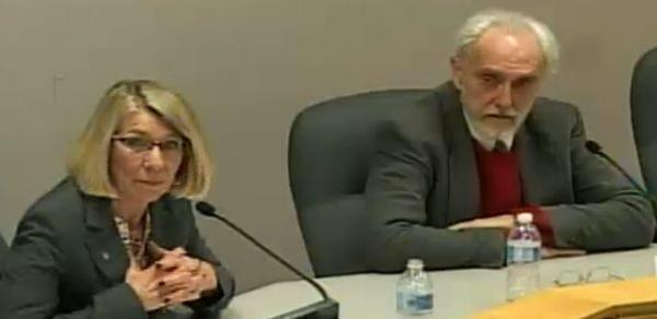Democratic Urbana mayoral candidate Diane Marlin and Republican candidate Rex Bradfield.