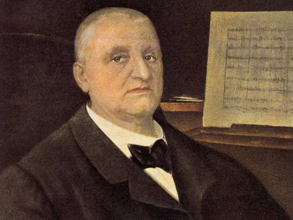 painting of Anton Bruckner
