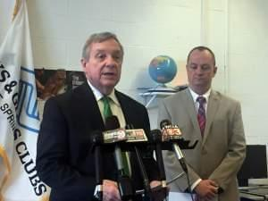 Senator Durbin at the Boys & Girls Club in Springfield.