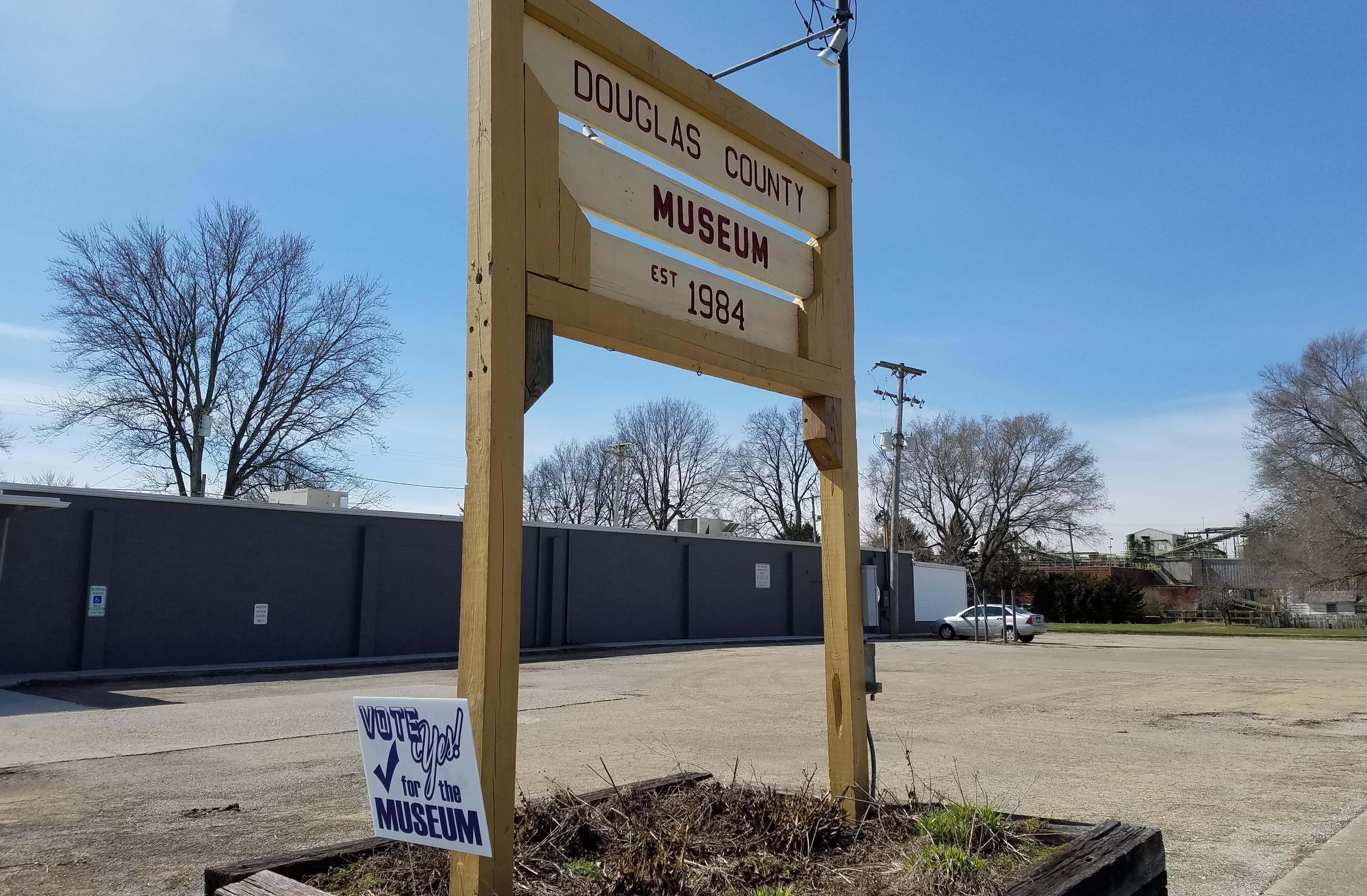 Sign for the Douglas County Museum in Tuscola.