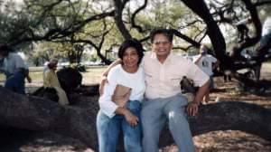 Dinesh Sabu's parents, Susheela and Dwarka