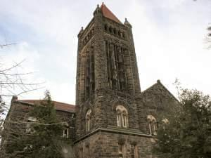 The chime tower at the University of Illinois' Altgeld Hall