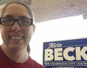 Alicia Beck, who won a District 2 seat on Champaign City Council Tuesday.