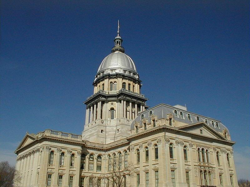 The state capitol in Springfield.