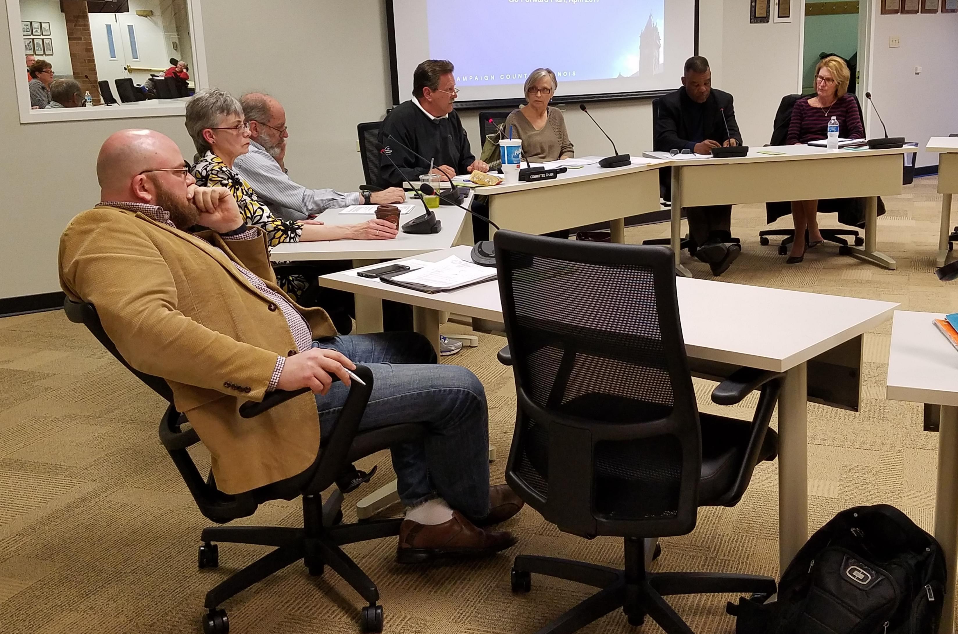 Champaign County Board member Joshua Hartke