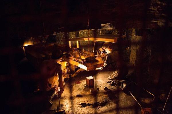 A coal mine exhibit in Evanston.