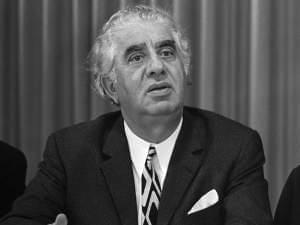 Soviet Armenian composer Aram Khachaturian in the Netherlands in 1971