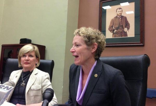 Rep. Elaine Nekritz, right, is seen with now-former Rep. Darlene Senger in this file photo.