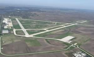 Aerial view of Decatur Airport.